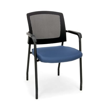 Mesh Chair Guest/Reception Chair with Arms, Navy (424-804)