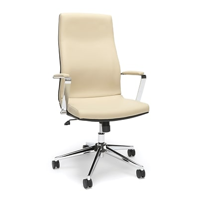 High Back Leather Manager Chair, Cream (567-CRM)