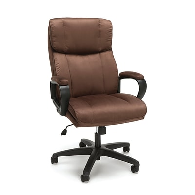 Essentials By OFM Plush High Back Microfiber Office Chair, Brown (ESS-3081-BRN)