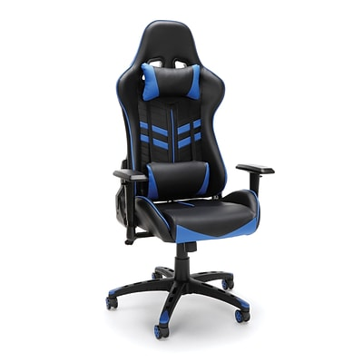 Essentials by OFM Racing Style Gaming Chair, Black/Blue (ESS-6065-BLU)