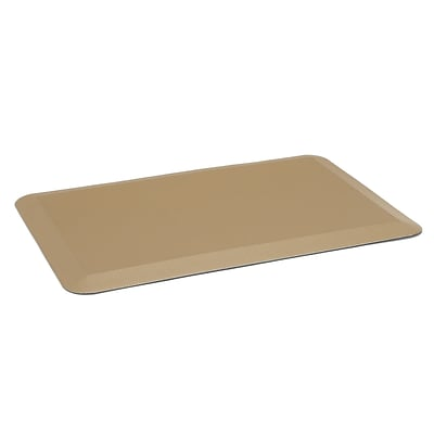 Essentials By OFM 3/4 Anti-Fatigue Comfort Mat 20x30, Tan (ESS-8810-TAN)
