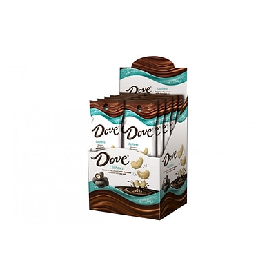 DOVE Cashews Dipped in Milk Chocolate and Dusted with Sea Salt 1.6 Ounce Packs, 10 Count (365469)