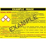 HCL Flux (Liquid Flammable) GHS Chemical Label, 4 x 7, Adhesive Vinyl, Yellow/Black, 25 Pack (GH30