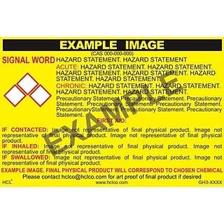 HCL Manganese Dioxide GHS Chemical Label, 4 x 7, Adhesive Vinyl, Yellow/Black, 25 Pack (GH30751004