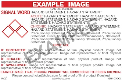 HCL Ethyl Alcohol (Denatured) GHS Chemical Label, 2 x 3, Adhesive Vinyl, White/Red, 25 Pack (GH410