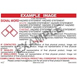 HCL Potassium Iodide GHS Chemical Label, 3 x 5, Adhesive Vinyl, White/Red, 25 Pack (GH4X8400035)