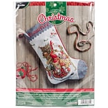 Bucilla 18 Long Old World Santa Stocking Counted Cross Stitch Kit, 28 Count (86660)