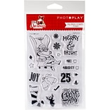 Photo Play Paper Icons Mad 4 Plaid Christmas Polymer Stamps (MPC2879)