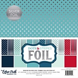 Echo Park Paper Winter Dot/Stripe Combo W/Silver Foil Double-Sided Collection Pack, 12 x 12, 24/Pk