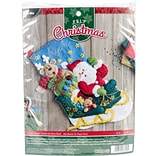 Bucilla 18 Long Santas Helper Stocking Felt Applique Kit (86706)