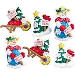 Bucilla  Set Of 6 Snow Garden Ornaments Felt Applique Kit, 4 x 5 (86558)