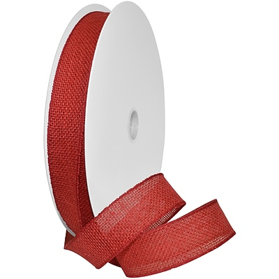 Morex Corp Red Burlap Wired Ribbon, 1.5 x 10 yd (125240-194)