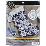 Bucilla 18 Long Sparkle Snowflake Stocking Felt Applique Kit (86709)