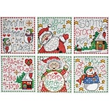 Tobin 3.5 x 3.5 14 Count Set Of 6 Merry Stitchmas Ornaments Counted Cross Stitch Kit (DW1698)