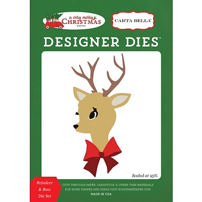 Echo Park Paper A Very Merry Christmas, Reindeer & Bow Carta Bella Dies (VMC72041)