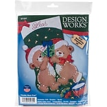 Tobin 18 Long Teddy Bear Fun Stocking Felt Applique Kit (DW5230)