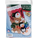 Tobin 18 Long Holiday Friends Stocking Felt Applique Kit (DW5232)