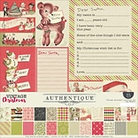 Authentique Paper Vintage Christmas Collection Kit, 12 x 12 (VIN015)
