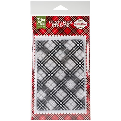 Echo Park Paper Holiday Plaid Stamps, 4 x 6 (PC135045)