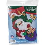 Tobin 18 Long Starlight Santa Stocking Felt Applique Kit (DW5248)