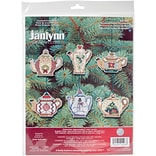Janlynn 3 14 Count Set Of 6 Christmas Teapot Ornaments Counted Cross Stitch Kit (21-1486)