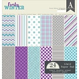 Authentique Paper Frosty Winter Double-Sided Cardstock Pad, 12 x 12, 24/Pkg (FWN009)