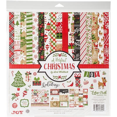 Echo Park Paper A Perfect Christmas Collection Kit, 12 x 12 (APCKIT-35016)