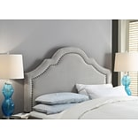 FirsTime Verona 60H x 64W Gray Velvet Headboard Full/Queen (31024)