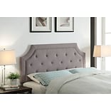 FirsTime Kelsey 50.5H x 80W Gray Linen Headboard King (31026)