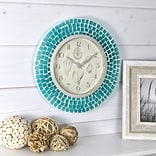 FirsTime® 11.5 Blue Mosaic Wall Clock (00167)