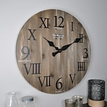 FirsTime® 24 Rustic Barnwood Wall Clock (50075)