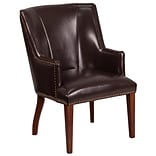 Flash Furniture Leather Side Chair Brown(CH162930BN)