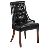 Flash Furniture Leather Tufted Chair Black 2 Pack (2QYA08BK)