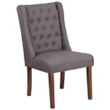 Flash Furniture Polyester Tufted Parsons Chair Gray 2 Pack (2QYA91GY)