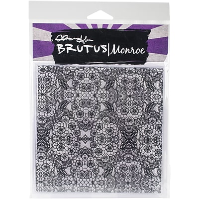 Brutus Monroe Floral Lace Background Clear Stamps, 5.75 x 5.75 (BRU6296)
