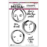 Ranger Oops, Oh Well Dina Wakley Media Cling Stamps, 6 x 9 (MDR-58397)