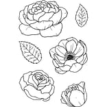 Janes Doodles Bloom Clear Stamps, 4 x 6 (743122)