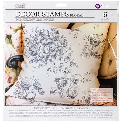 Prima Marketing Floral Iron Orchid Designs Decor Clear Stamps, 12 x 12 (815745)