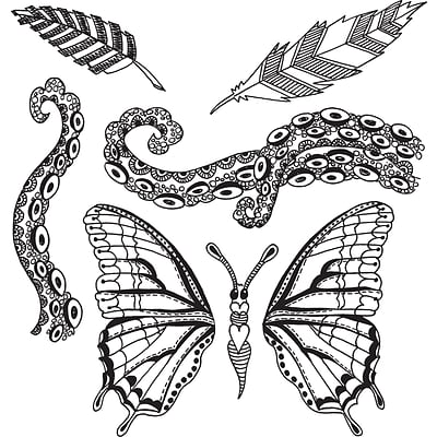 Ranger Flight Of Fancy Dyan Reaveleys Dylusions Cling Stamp Collections, 8.5 x 7 (DYR-59509)