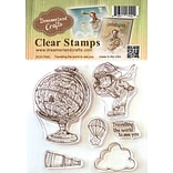 DreamerlandCrafts Traveling The World To See You Clear Stamp Set, 4 x 4 (DCS17042)