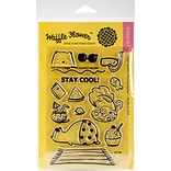 Waffle Flower Crafts Stay Cool Clear Stamps, 4 x 6 (271106)