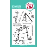 Avery Elle Flamingo Bells Clear Stamp Set, 4 x 6 (AE1728)