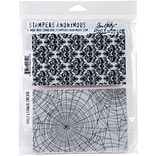 Stampers Anonymous Skulls & Cobwebs Tim Holtz Cling Stamps, 7 x 8.5 (CMS-306)