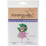 Stamping Bella Garden Girl Water Lily Tiny Townie Cling Stamp, 6.5 x 4.5 (EB502)