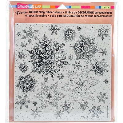 Stampendous Snowflakes Decor Cling Stamp, 10 x 8.75 (DCR102)