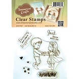 DreamerlandCrafts Just Dance With Me Clear Stamp Set, 4 x 4 (DCS17037)