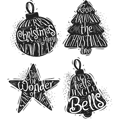 Stampers Anonymous Carved Christmas #2 Tim Holtz Cling Stamps, 7 x 8.5 (CMS-314)
