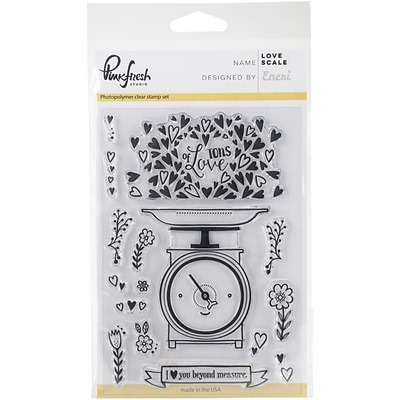 Pinkfresh Studio Love Scale Clear Stamp Set, 4 x 6 (PFCS2717)