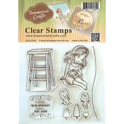 DreamerlandCrafts Friends Are Always There For You Clear Stamp Set, 4 x 4 (DCS17039)