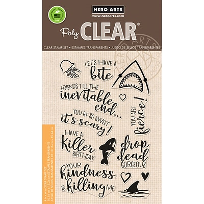 Hero Arts Killer Messages Clear Stamps, 4 x 6 (HA-CM168)